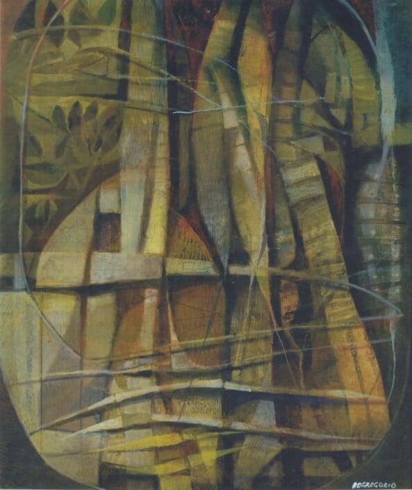 De Gregorio - Rottame di barca e vecchio timone