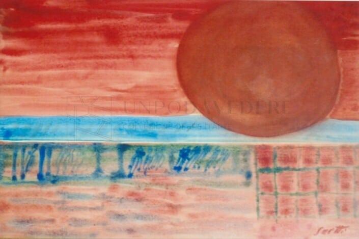 Bruno Saetti - Sole rosso