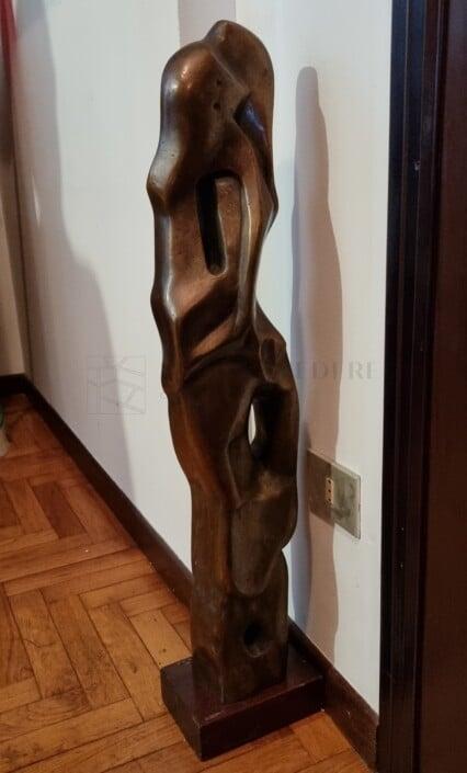 scultura bronzo il bacio